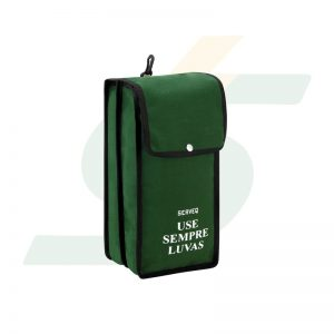 Bolsa de lona dupla p/ transporte de luvas