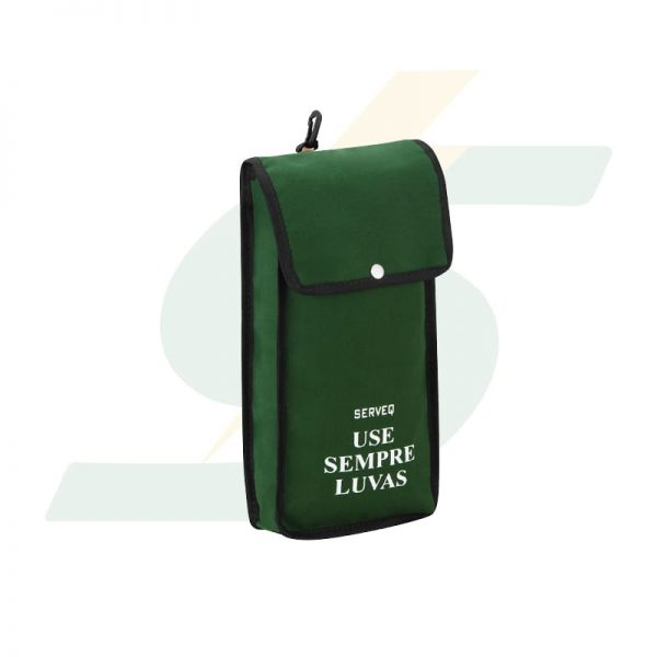 Bolsa de lona p/ transporte de luvas